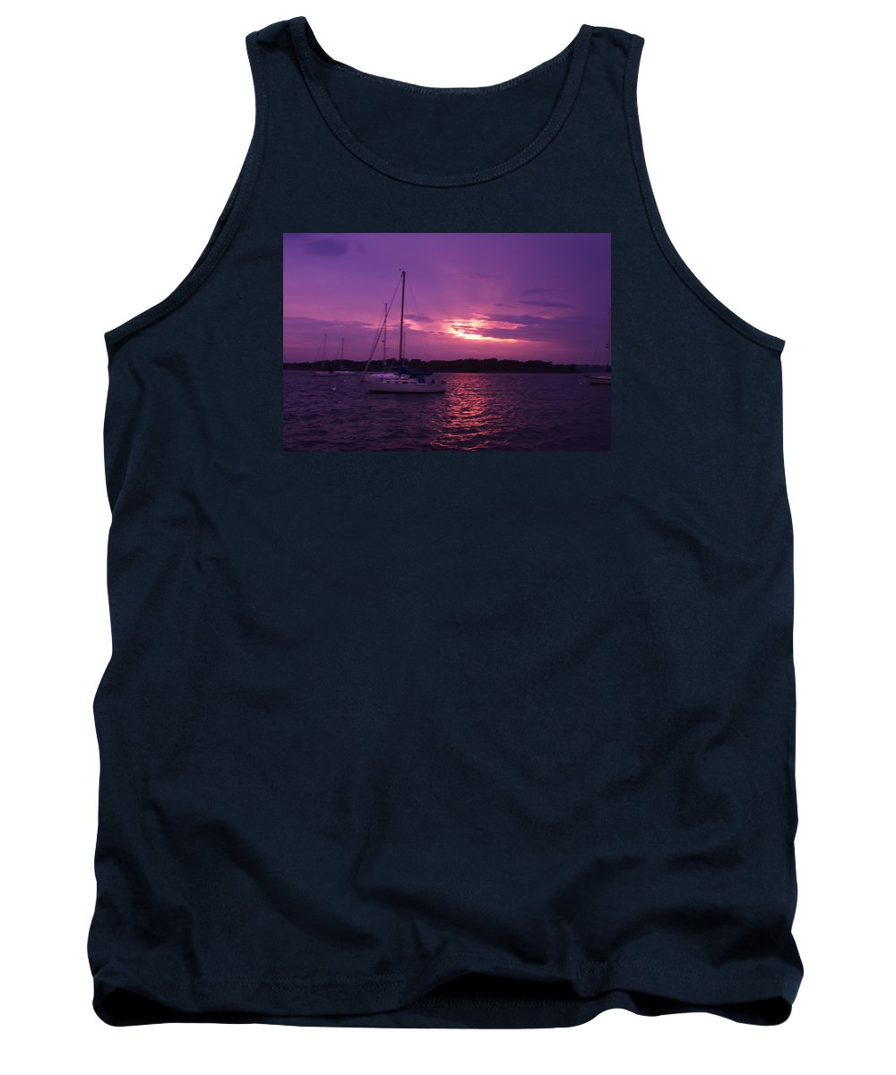 Tank Top featuring the photograph Purple Sunset by Kevin Rabbitt