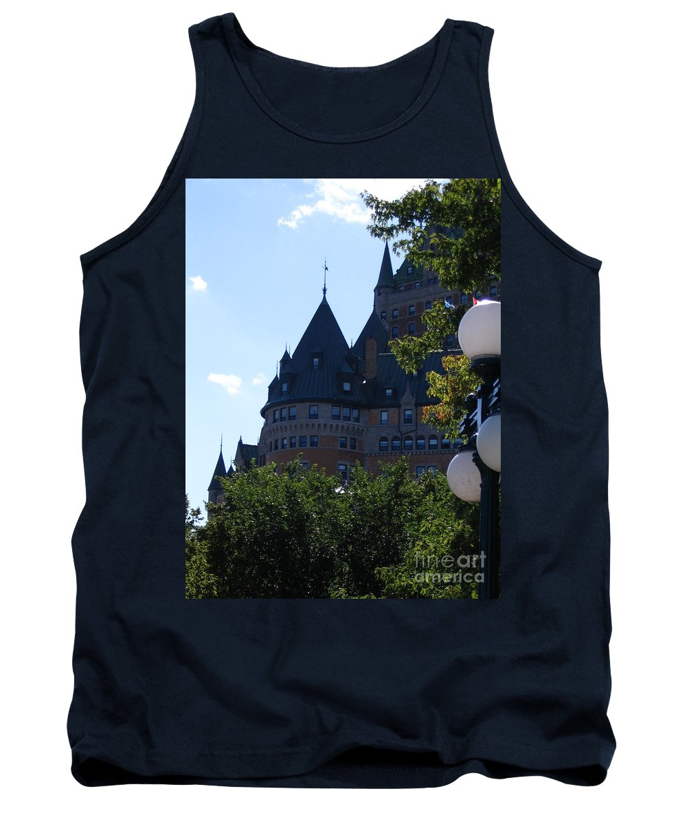 Chateau Frontenac Tank Top featuring the photograph Quebec City by Line Gagne