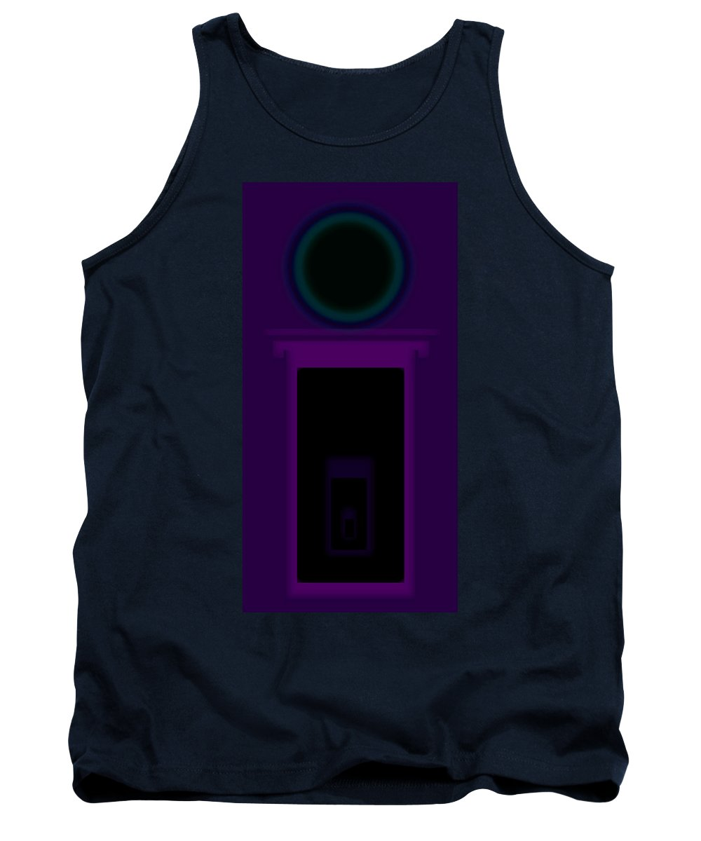 Palladian Tank Top featuring the painting Radio Purple Palladio by Charles Stuart