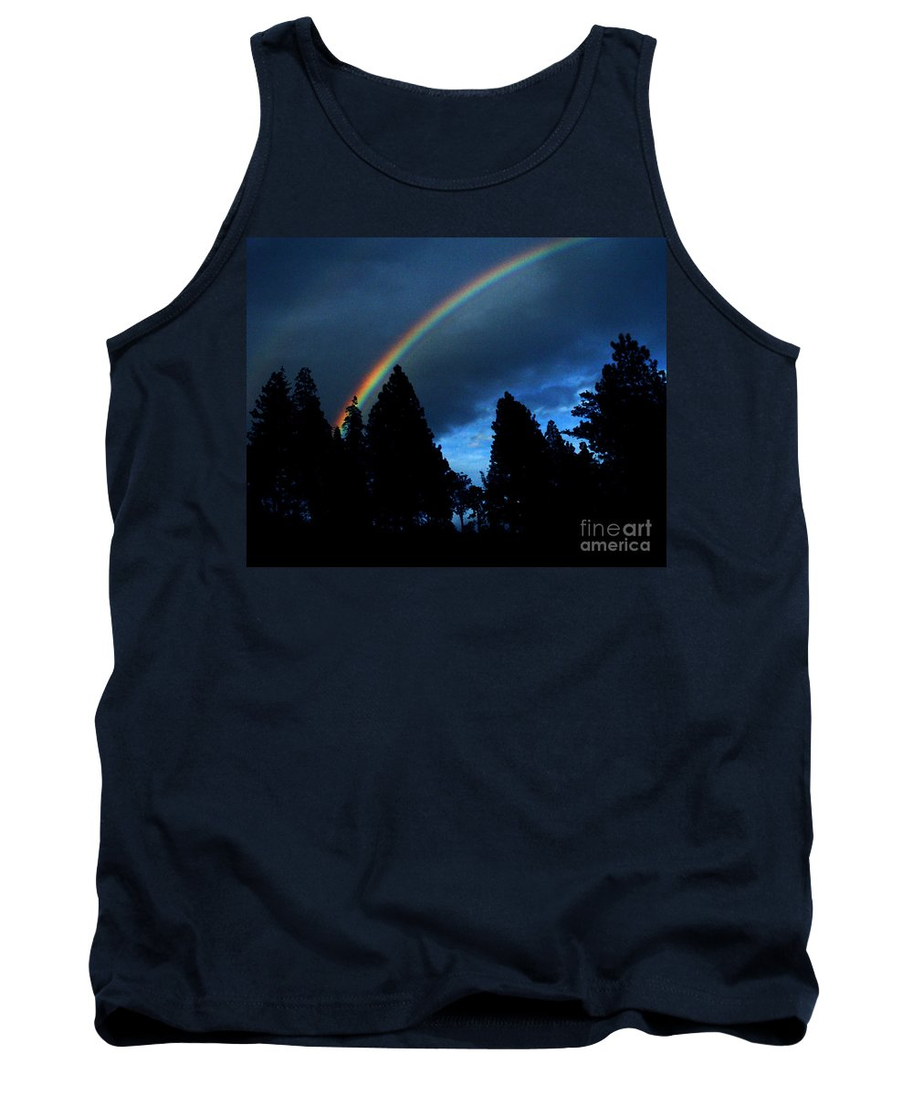 Rainbow Tank Top featuring the photograph Rainbow Sky by Peter Piatt