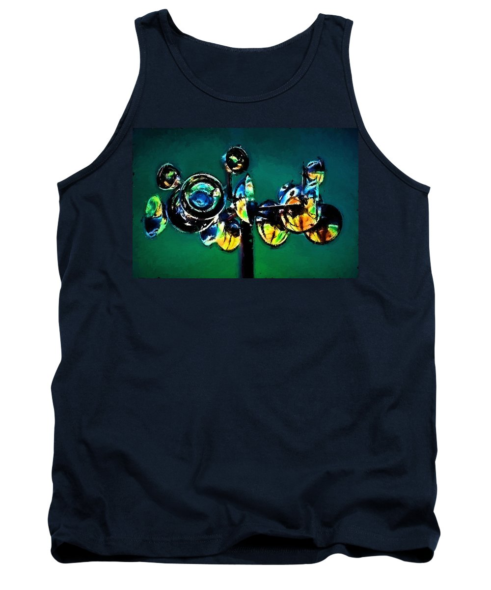 Abstract Tank Top featuring the painting Reckless Abandon by Jim Buchanan
