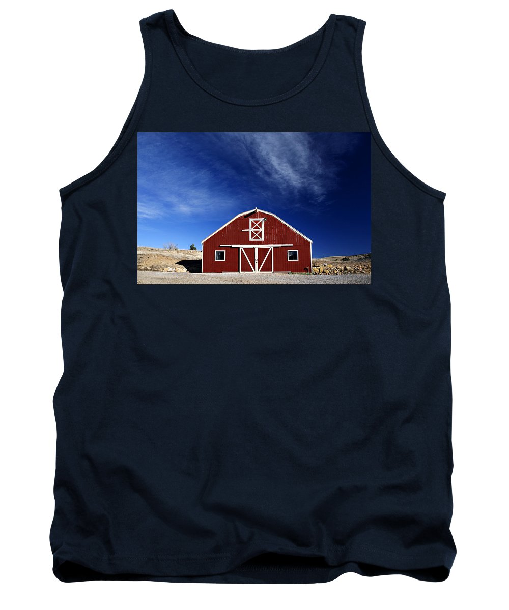 Americana Tank Top featuring the photograph Red And White Barn by Marilyn Hunt