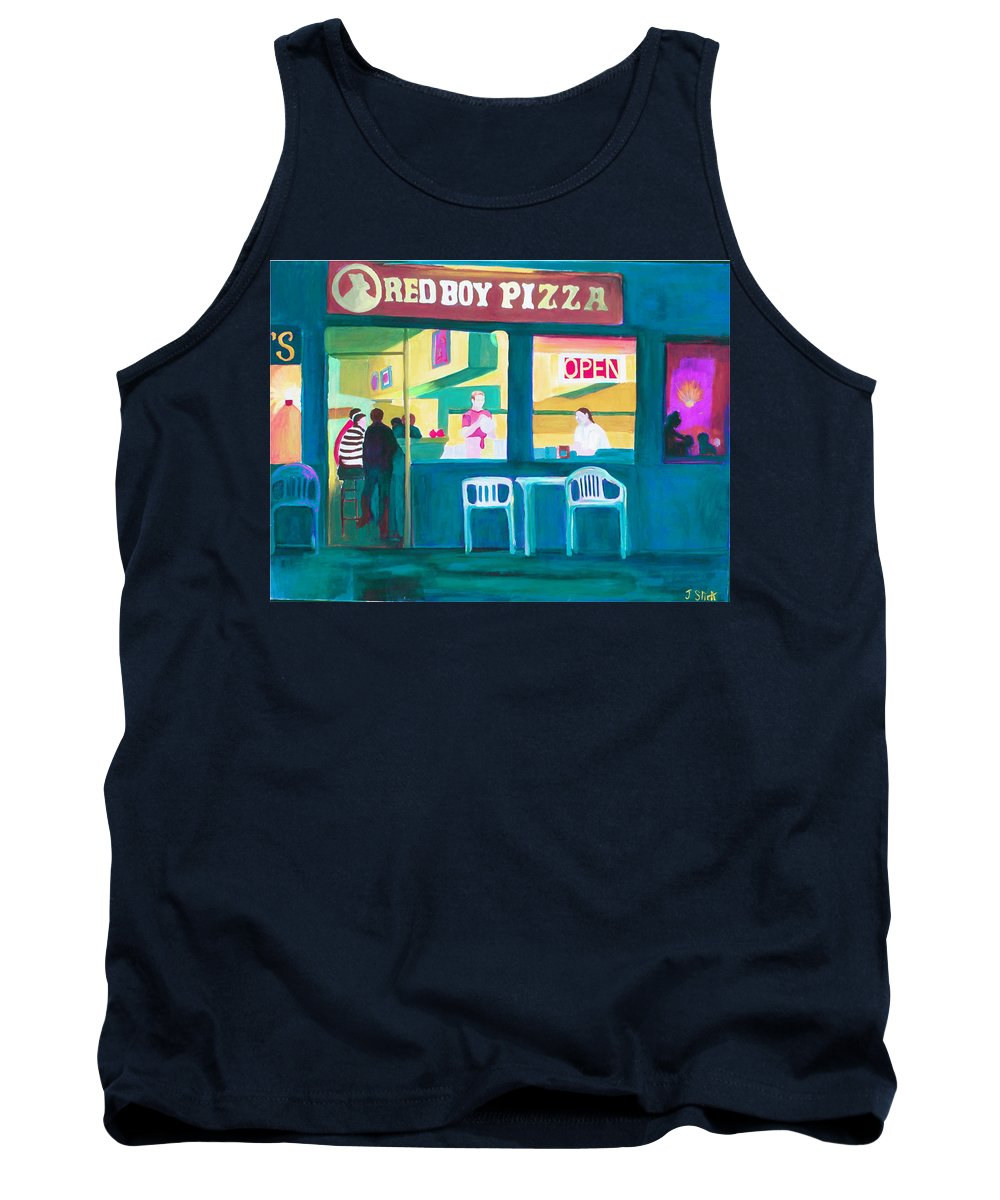 Restaurant Tank Top featuring the painting Red Boy Pizza by Joyce Slick