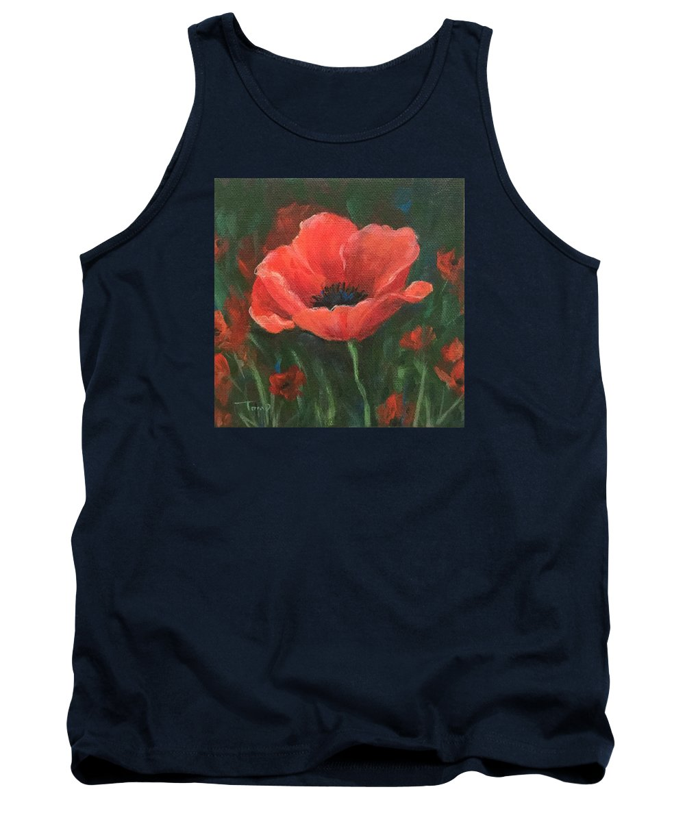 Poppy Tank Top featuring the painting Red Poppy by Torrie Smiley