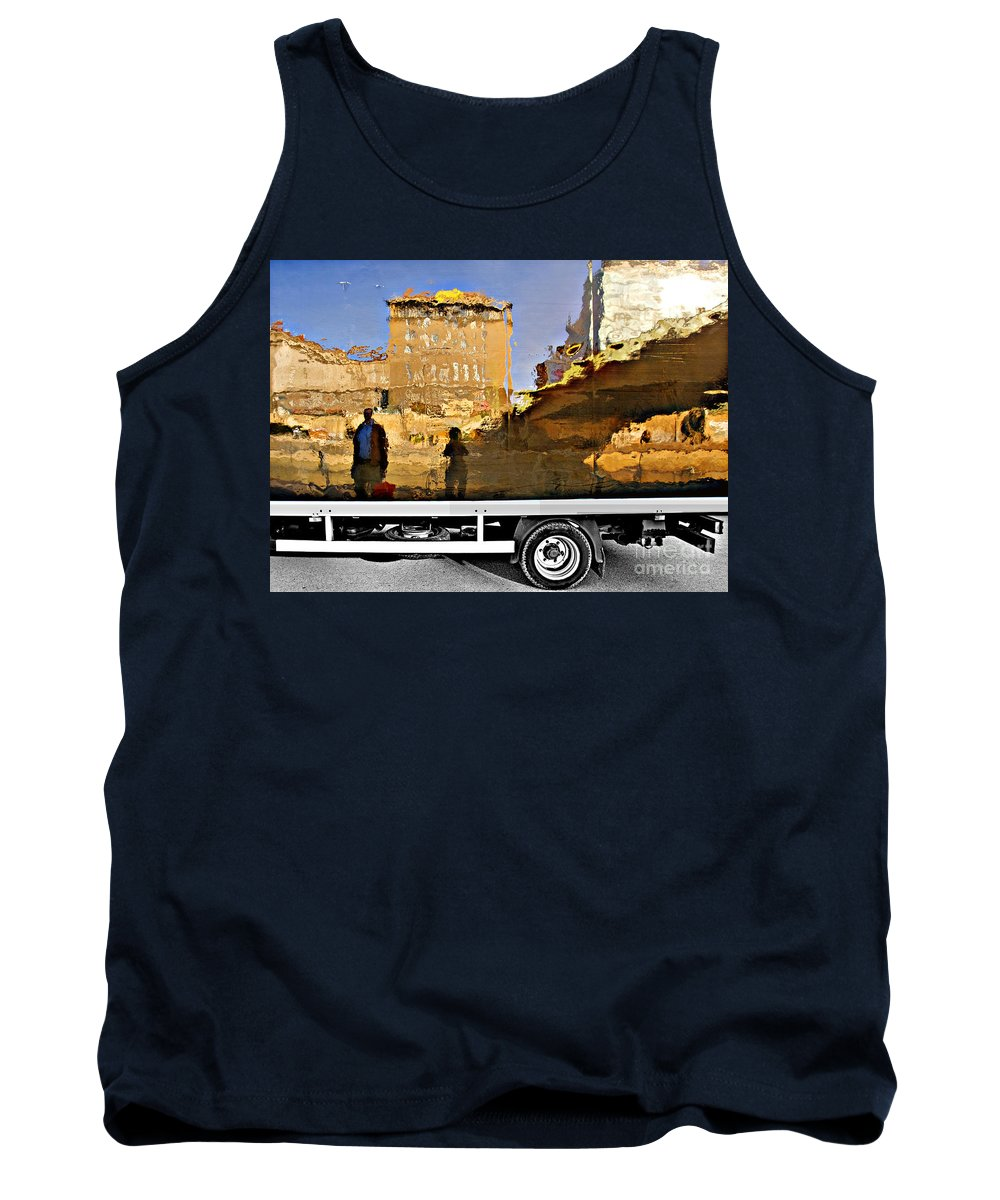 Reflection Tank Top featuring the photograph Reflections In Budapest by Madeline Ellis