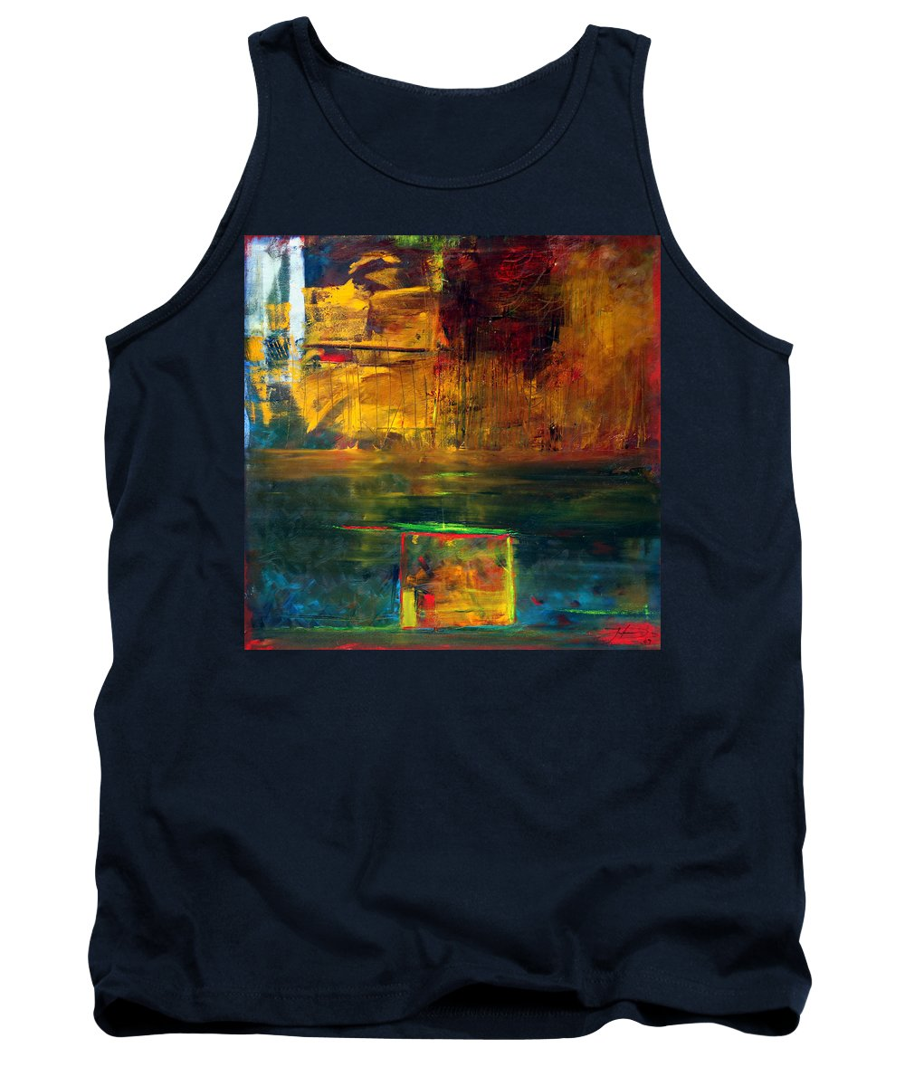 New York City Reflection Red Yellow Blue Green Tank Top featuring the painting Reflections Of New York by Jack Diamond