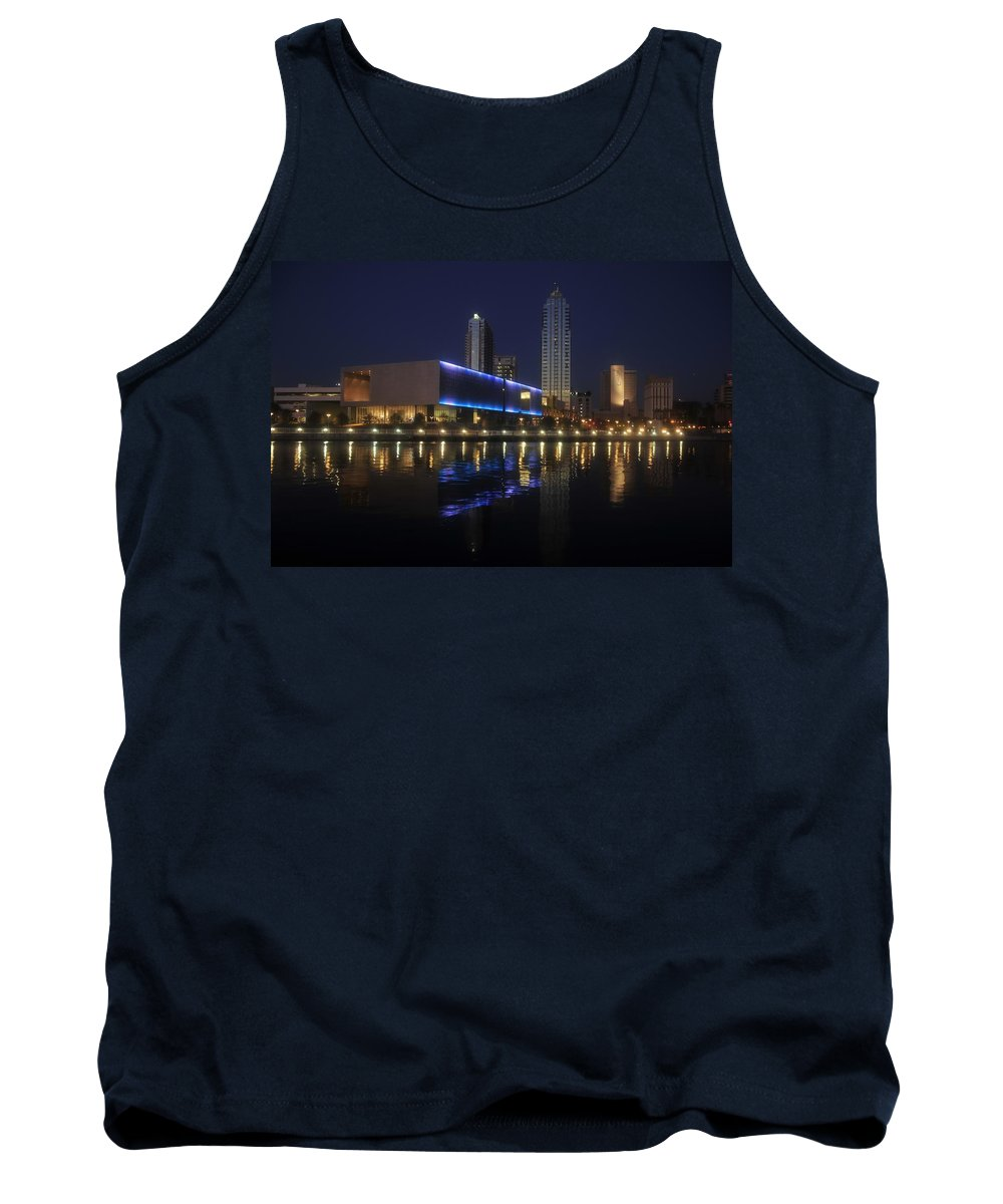 Tampa Florida Tank Top featuring the photograph Reflections On Tampa by David Lee Thompson