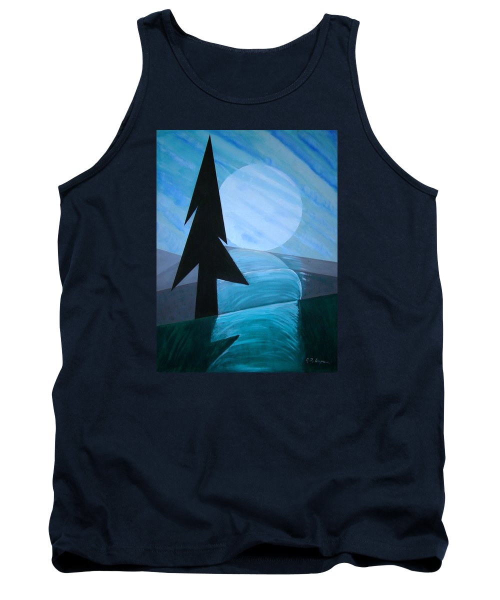 Phases Of The Moon Tank Top featuring the painting Reflections On The Day by J R Seymour