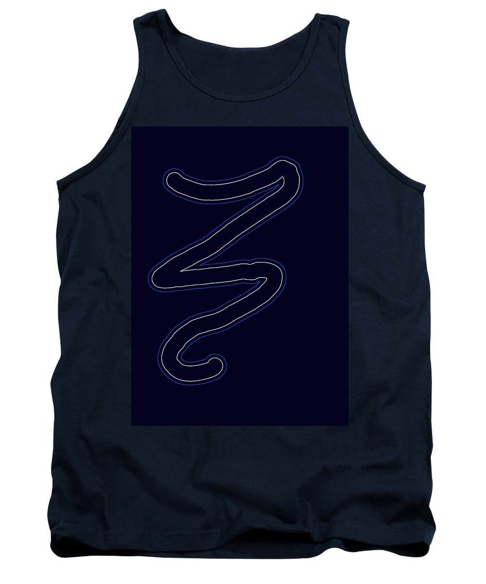 Note Tank Top featuring the digital art Rest by Kathy Barney