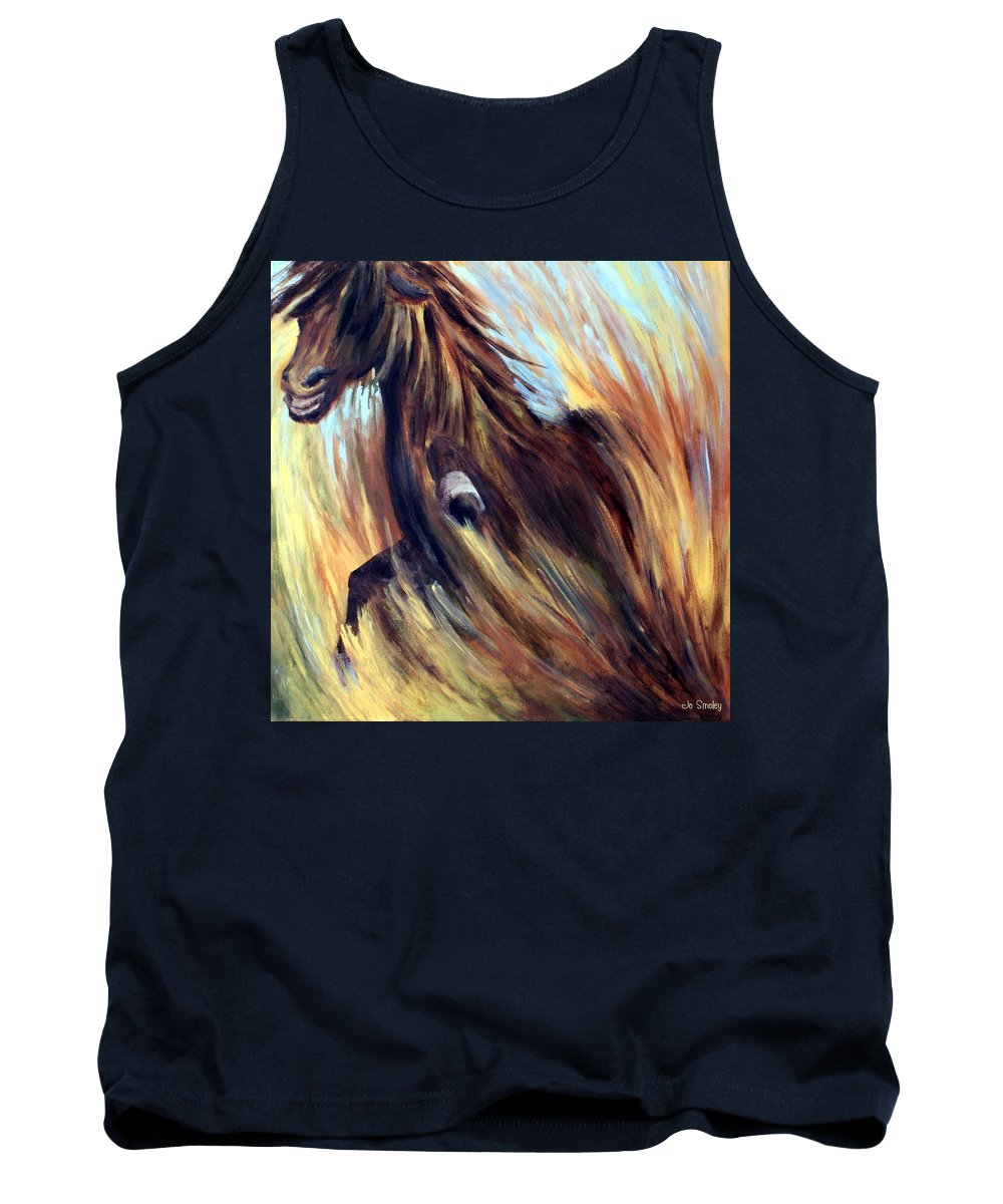 Horse Tank Top featuring the painting Rock Star by Joanne Smoley