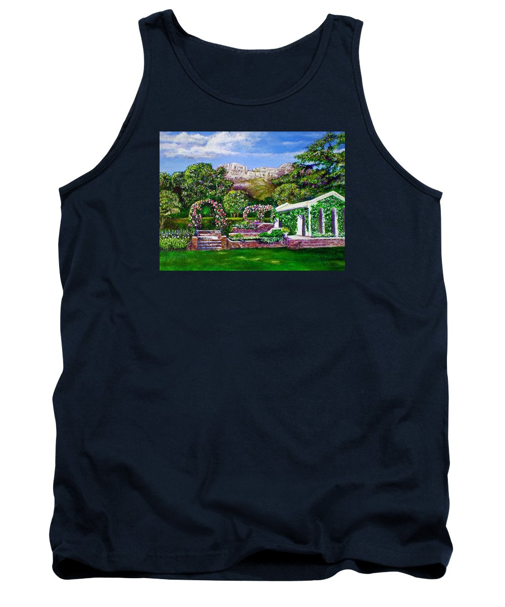 Landscape Tank Top featuring the painting Rozannes Garden by Michael Durst