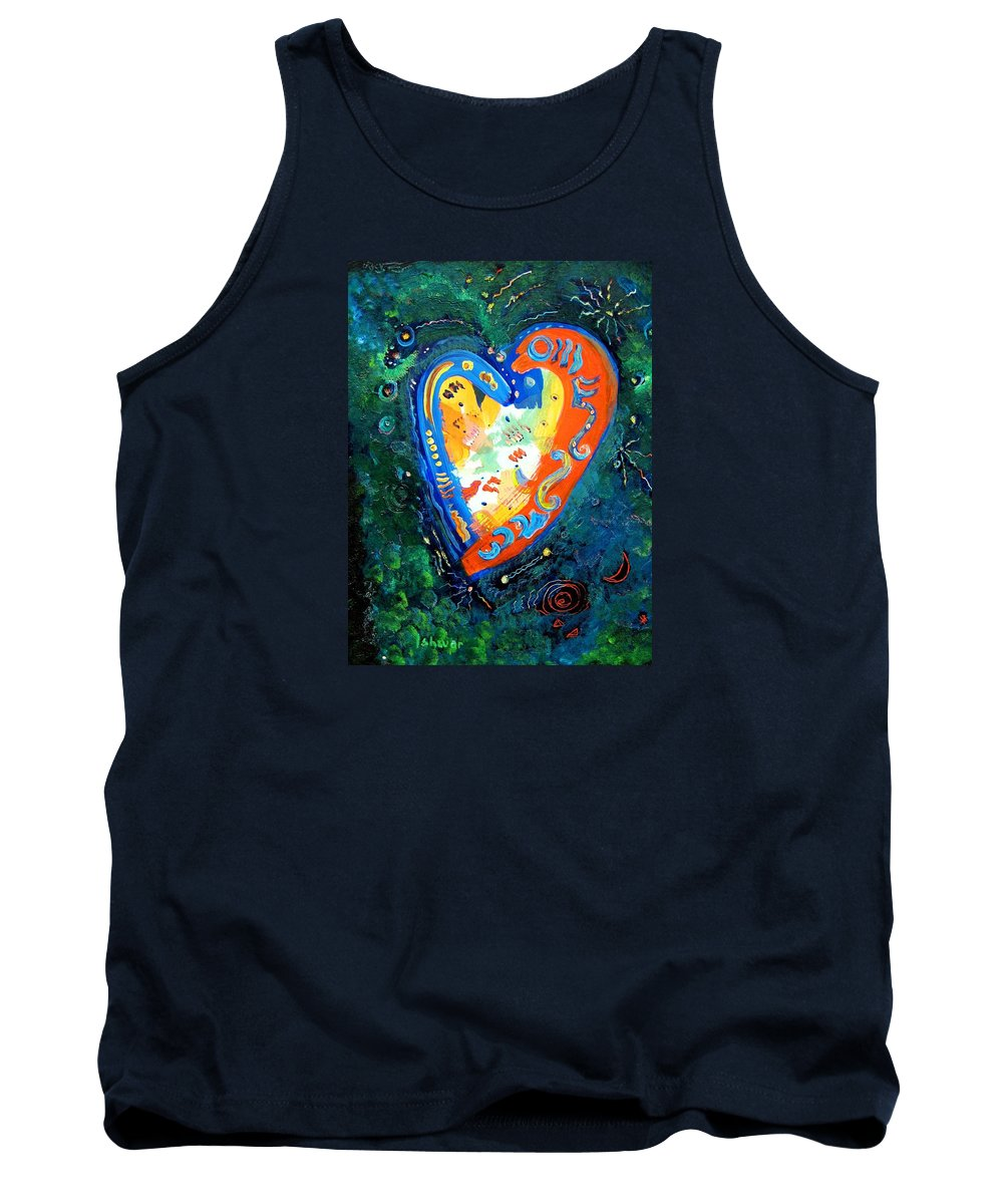 Sacredness Tank Top featuring the painting Sacred Space by Ishwar Malleret