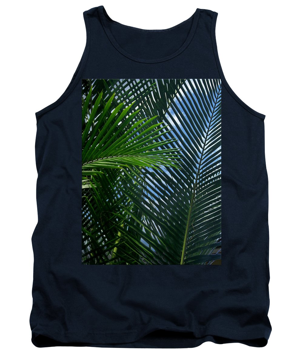 Indonesia Tank Top featuring the photograph Sago Palm Fronds by Mark Sellers