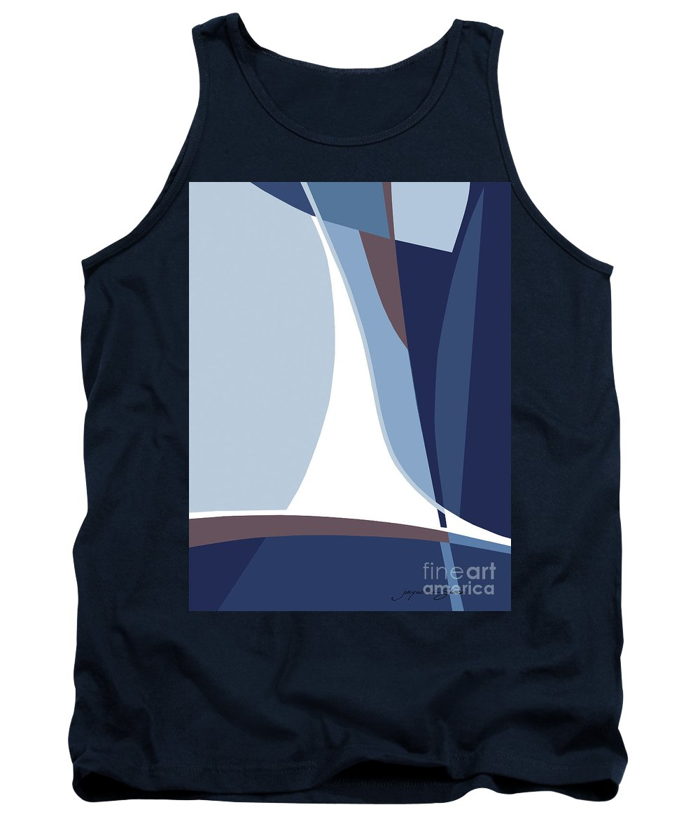 Abstract Tank Top featuring the painting Sail by Jacqueline Shuler