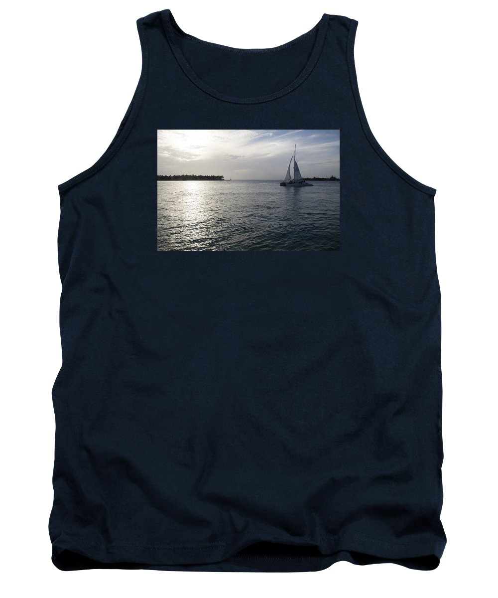 Sail Tank Top featuring the photograph Sailing by Eline Van Nes