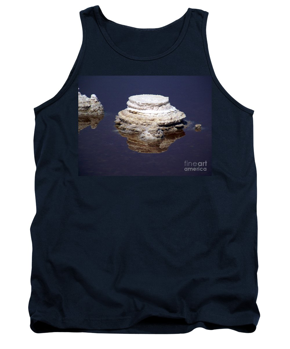 Salt; Formation Tank Top featuring the photograph salt cristal at the Dead Sea Israel by Avi Horovitz