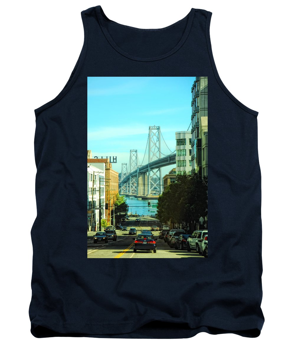San Francisco Tank Top featuring the photograph San Francisco Street by Donna Blackhall