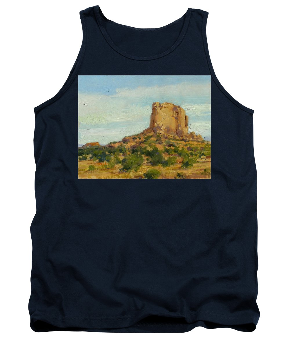 Fineart Tank Top featuring the painting Sandstone Butte Navajo Country by Spike Ress