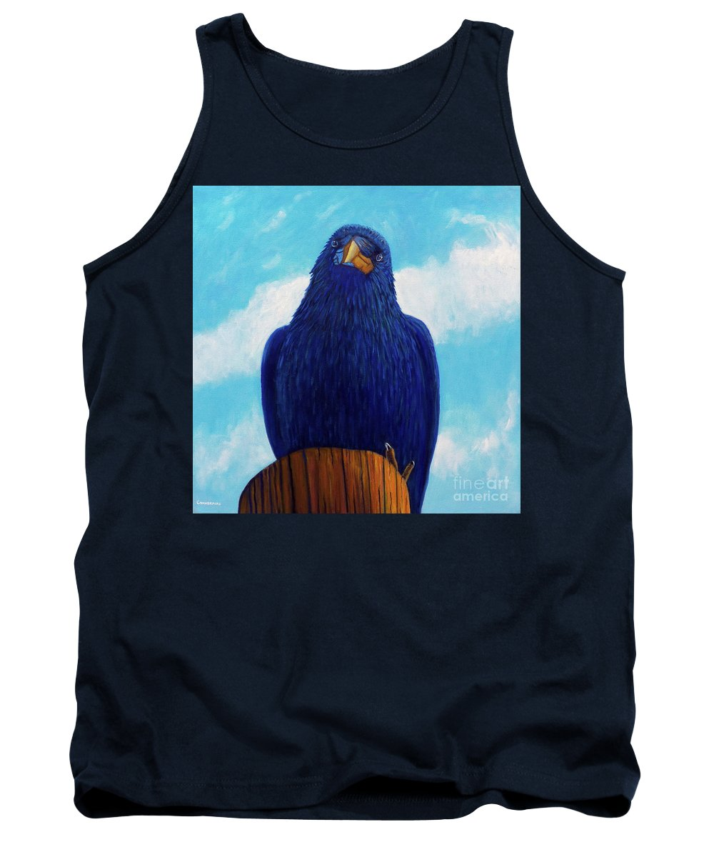 Raven Tank Top featuring the painting Santa Fe Smile by Brian Commerford