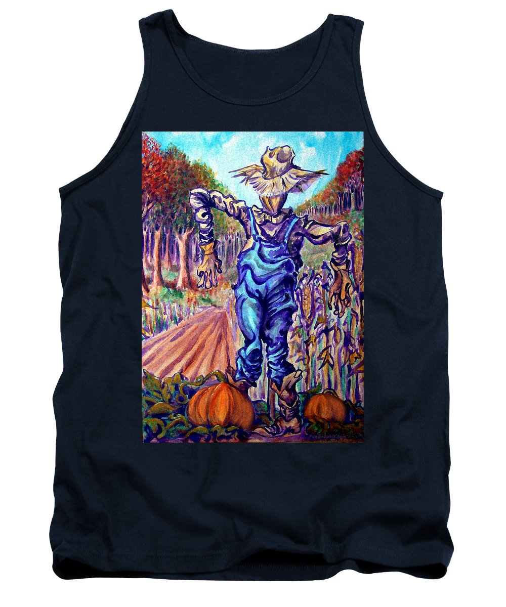 Scarecrow Tank Top featuring the painting Scarecrow by Kevin Middleton