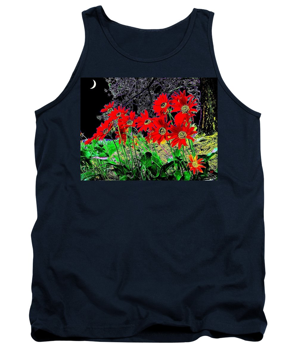 Abstract Tank Top featuring the digital art Scarlet Night by Will Borden
