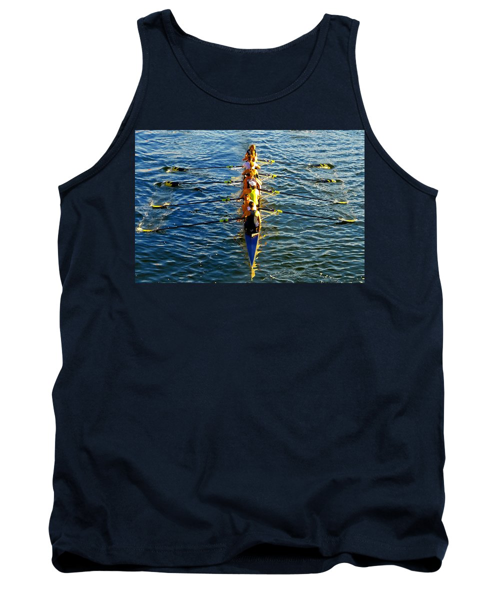Females Tank Top featuring the photograph Sculling Women by David Lee Thompson