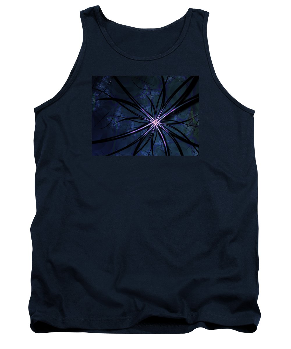 Sea Tank Top featuring the digital art Sea Anemone by Garret Bohl