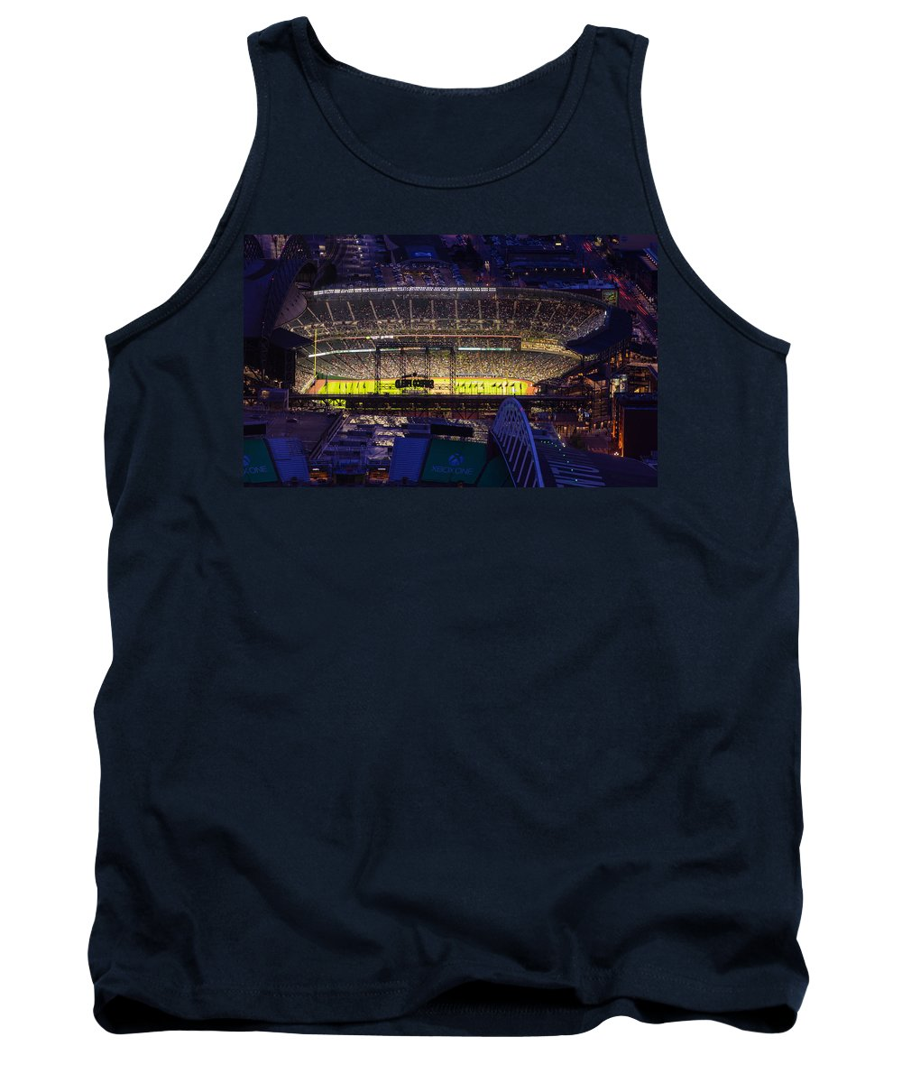 Mariners Tank Top featuring the photograph Seattle Mariners Safeco Field Night Game by Mike Reid