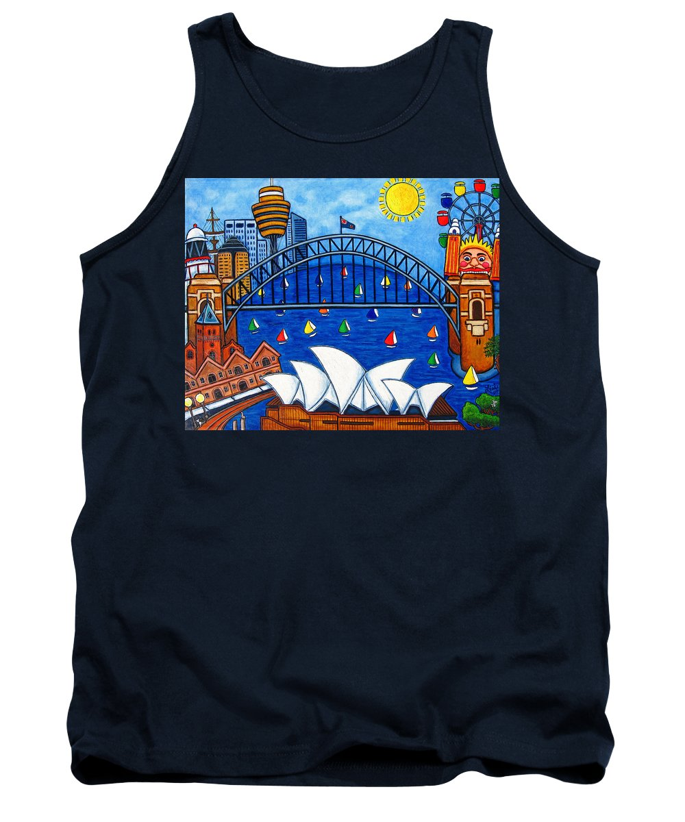 House Tank Top featuring the painting Sensational Sydney by Lisa Lorenz