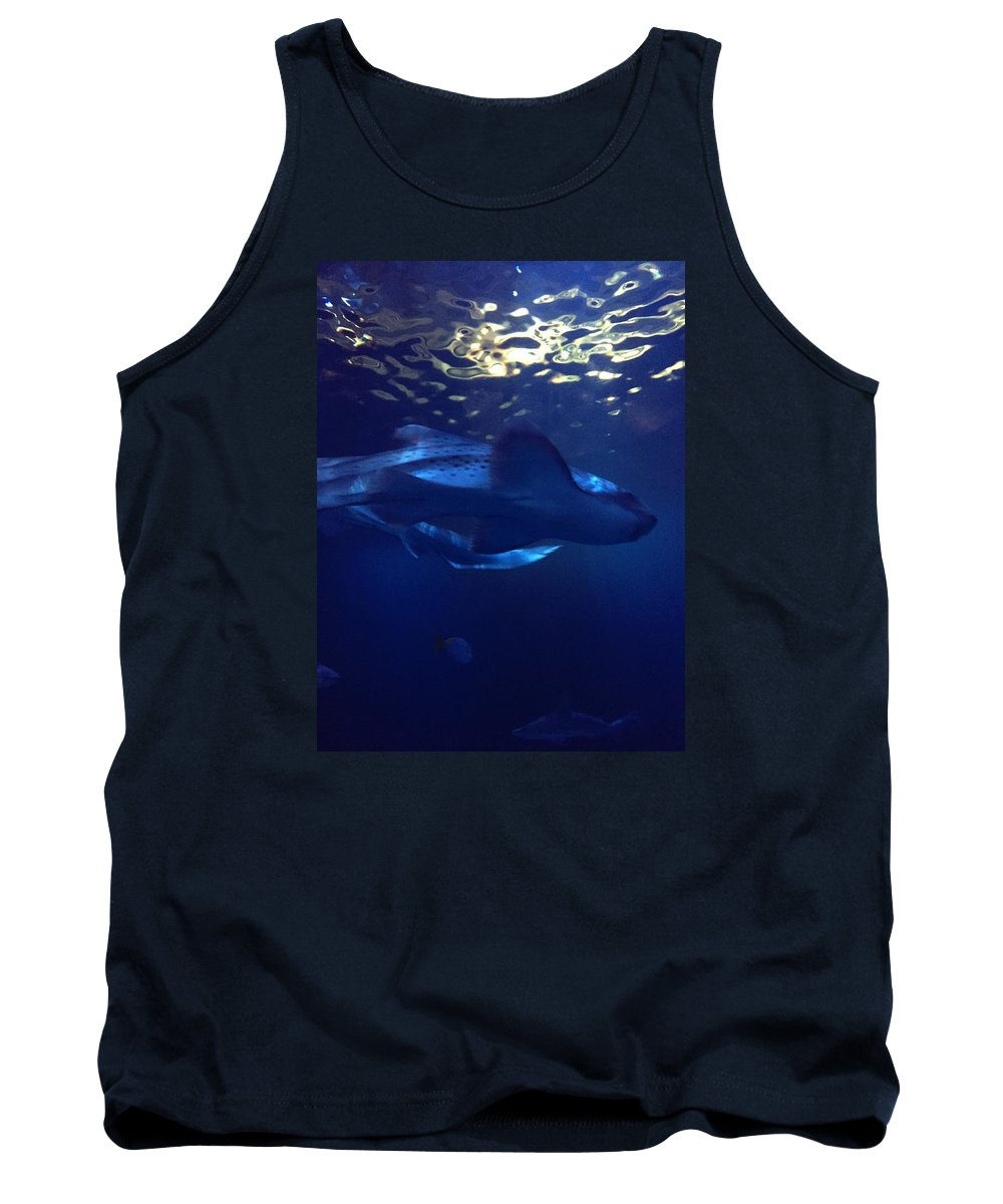 Marine Tank Top featuring the photograph Shark In The Sunlight by Valerie Nolan