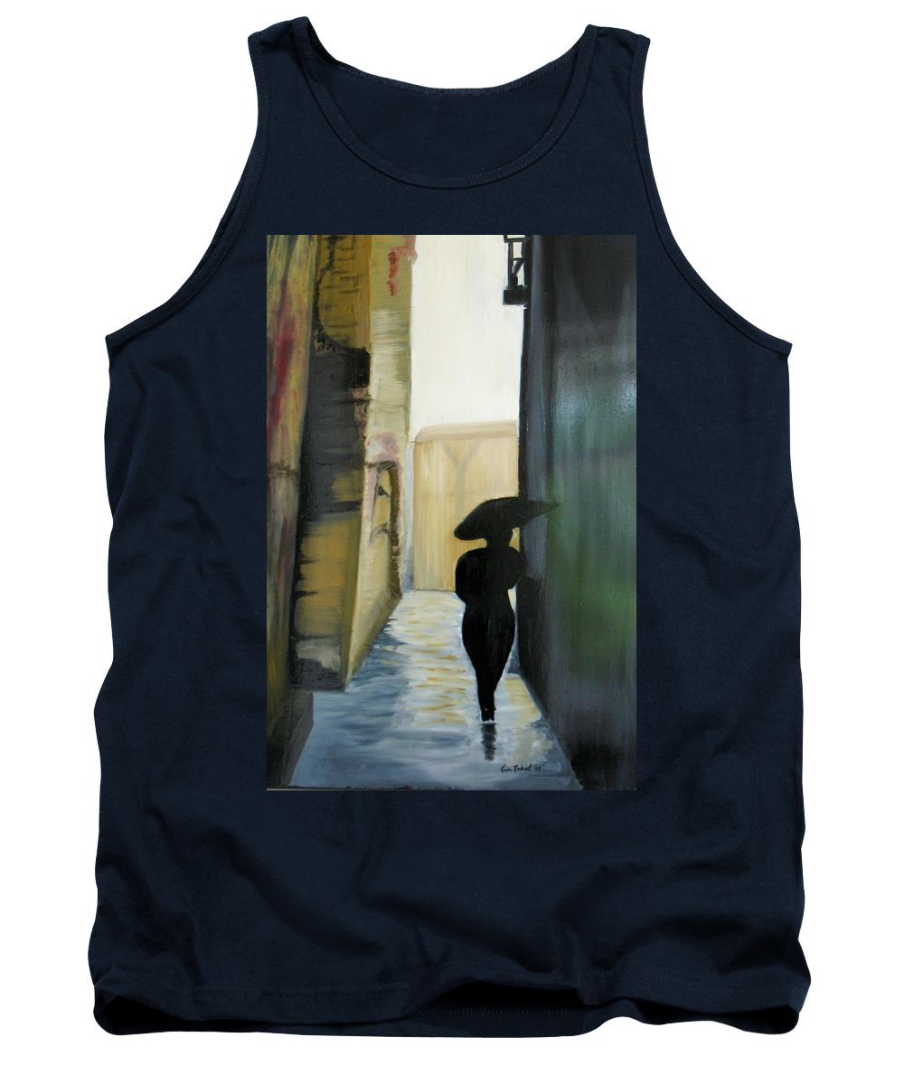 Woman Walking Tank Top featuring the painting She Walks by Kim Rahal