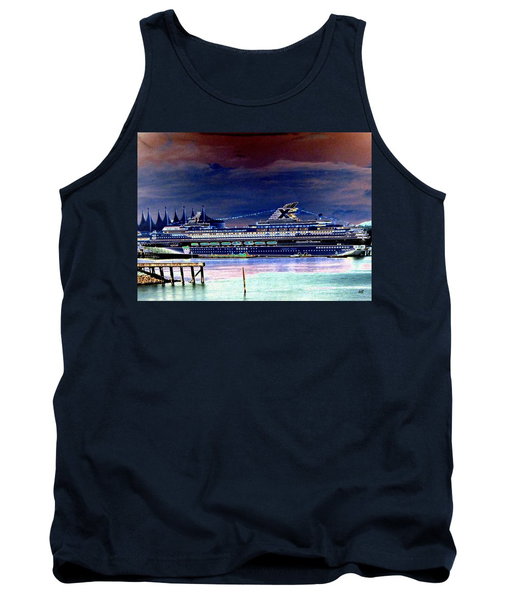 Mercury Tank Top featuring the digital art Shipshape 5 by Will Borden