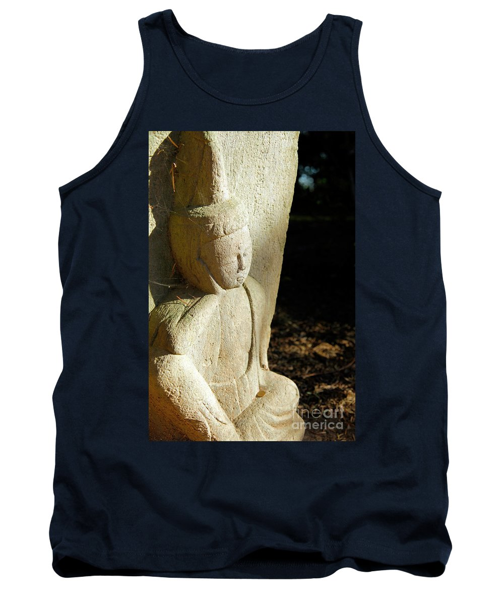 Repose Tank Top featuring the photograph Sleeping Buddah by Dean Triolo