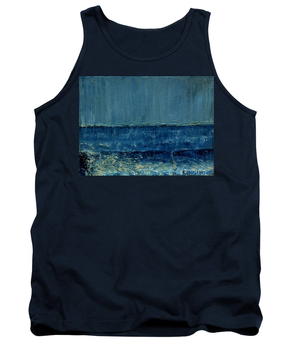Oil Tank Top featuring the painting Small Seascape 10 by Dimitra Papageorgiou
