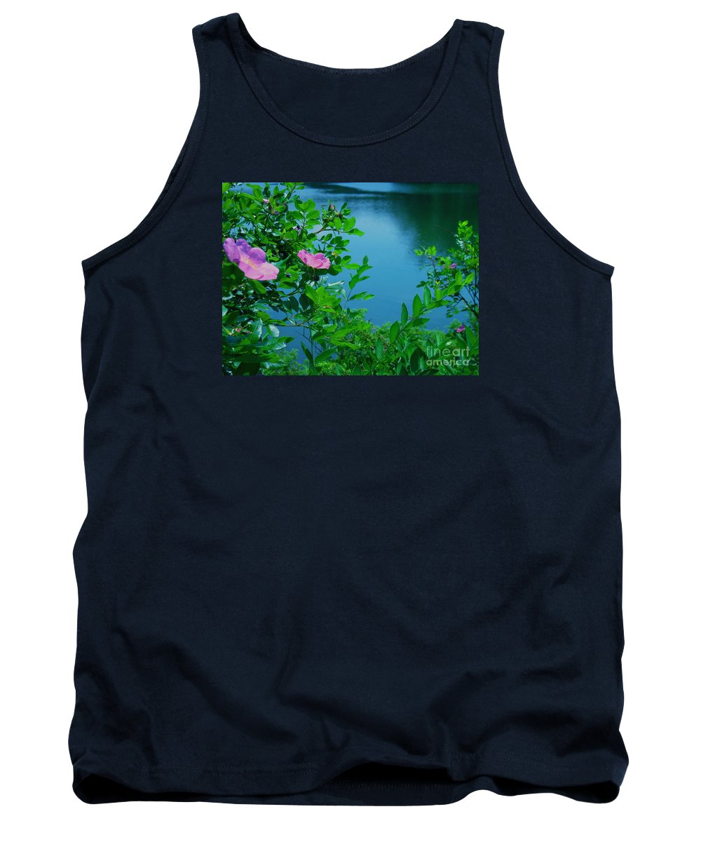 Water Tank Top featuring the photograph Smell The Roses by Sybil Staples