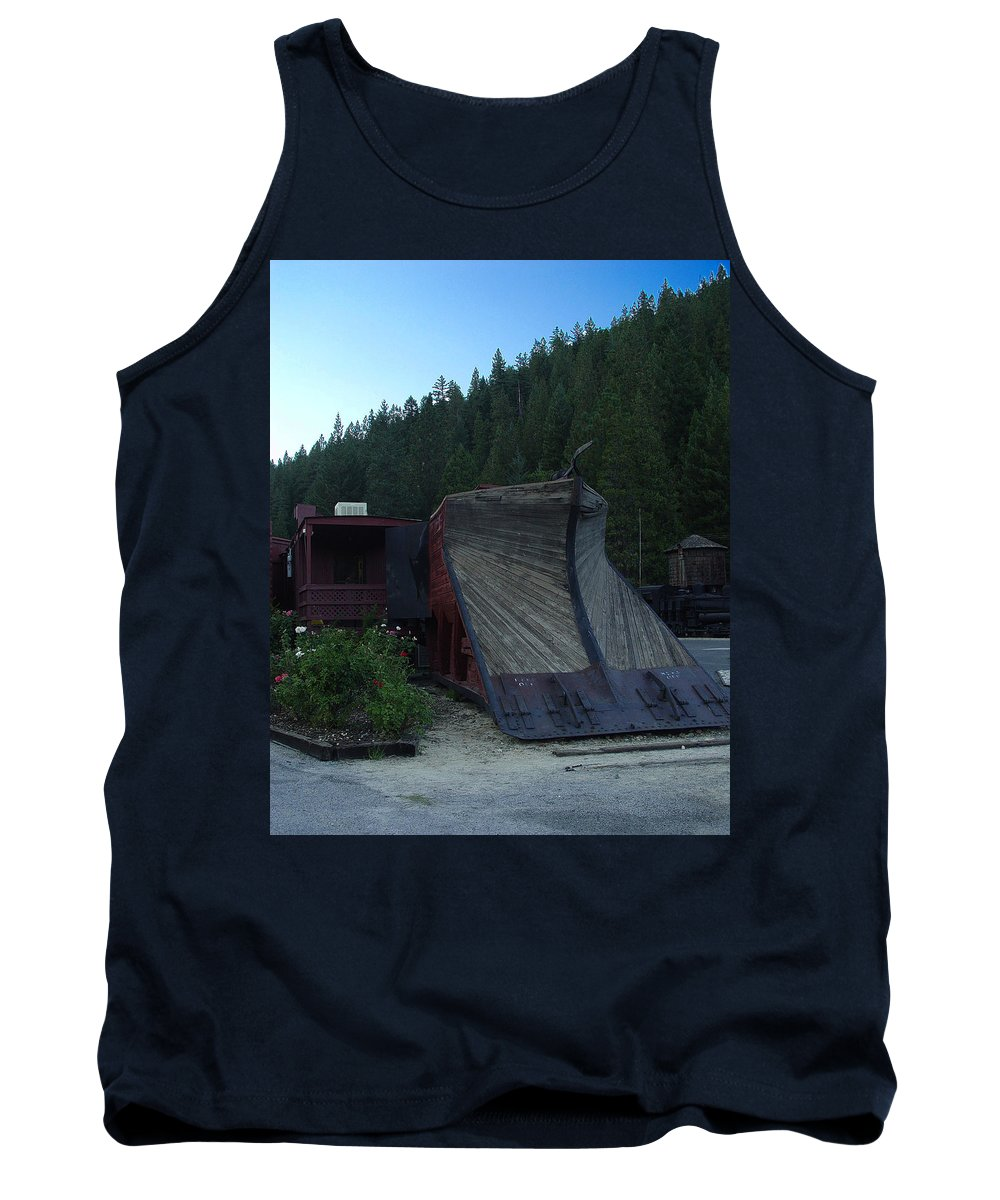 Train Tank Top featuring the photograph Snow Plow by Peter Piatt