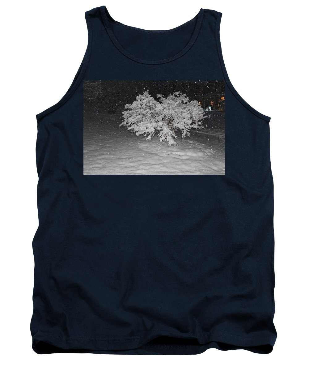 Photo Tank Top featuring the photograph Snow White Tree by Cindy DeGrasse