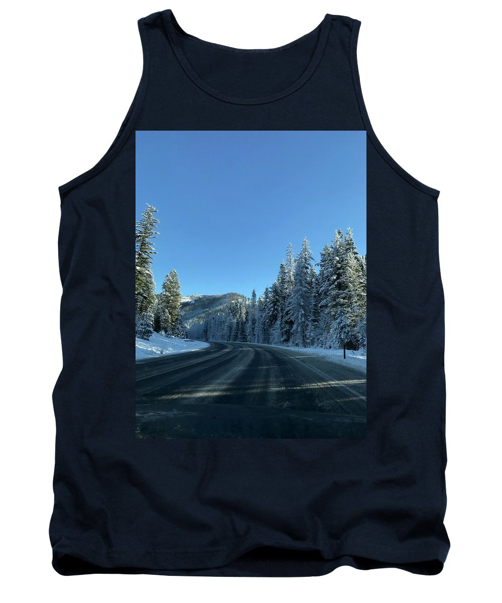 Winter Tank Top featuring the photograph Snowy Drive by Erik Roeser