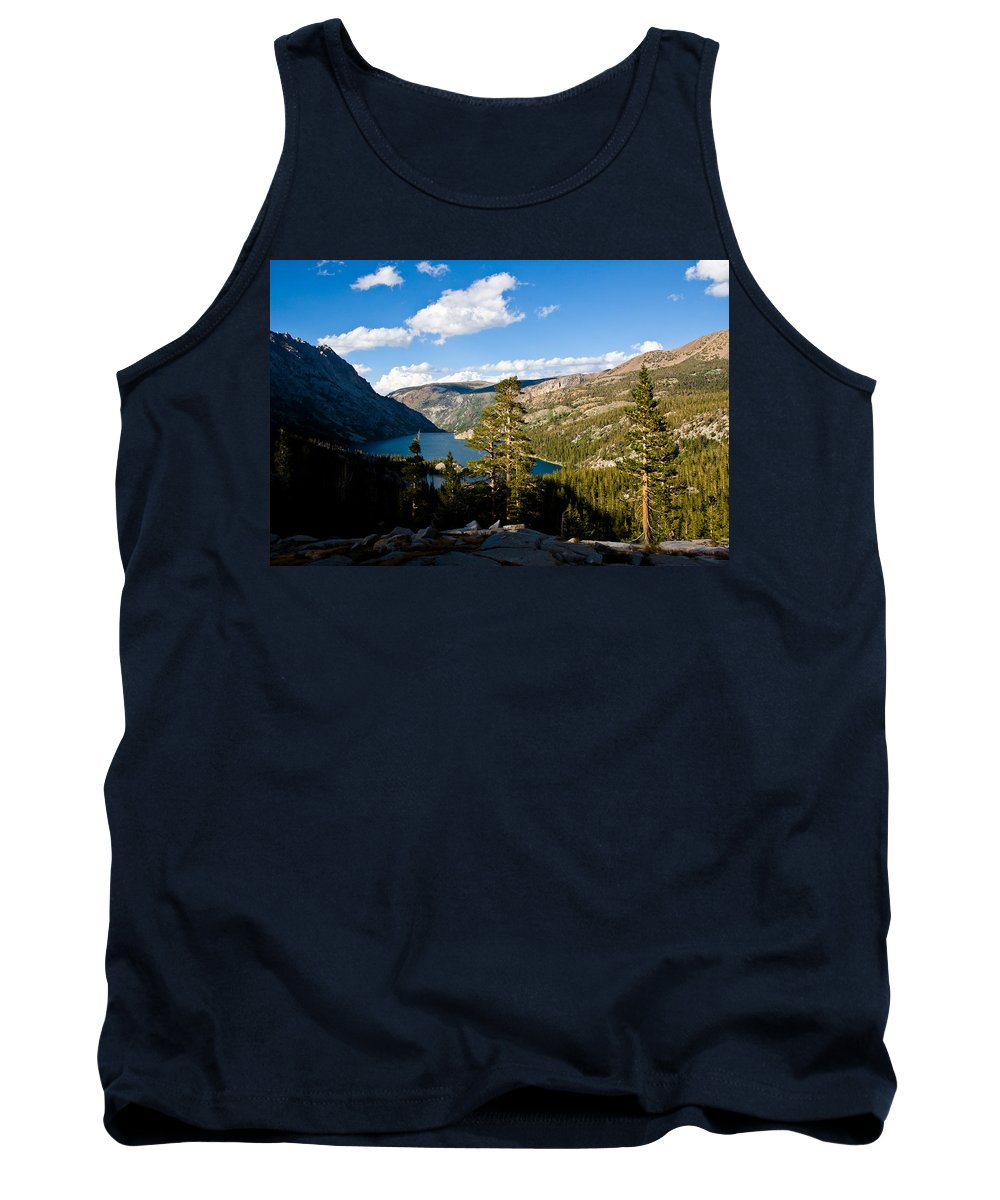South Lake From Above Tank Top featuring the photograph South Lake From Above by Chris Brannen