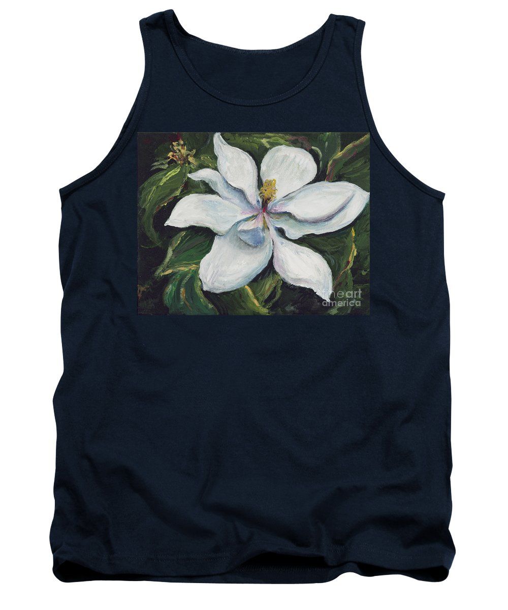 Green Tank Top featuring the painting Southern Beauty by Nadine Rippelmeyer