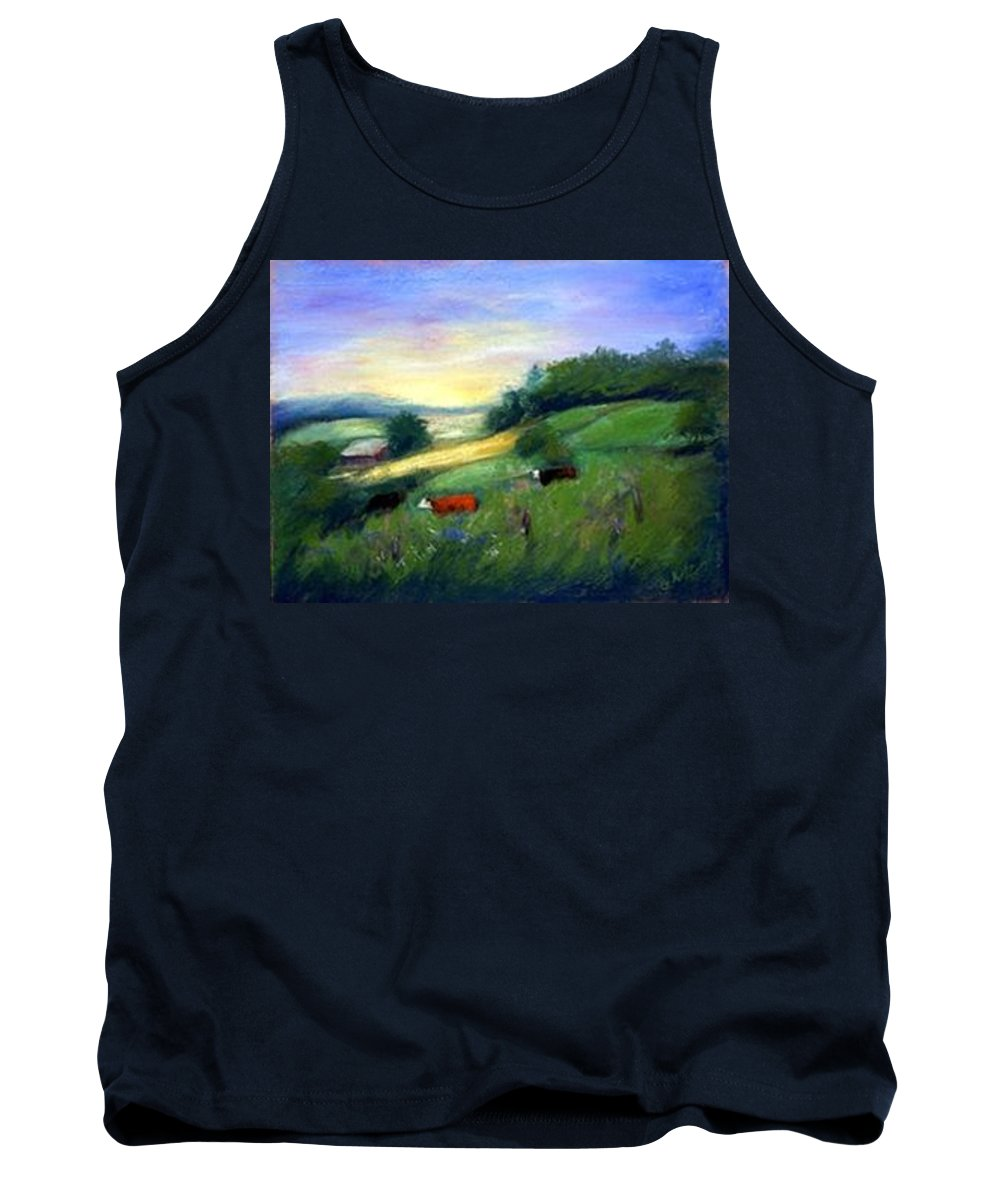 Landscape Tank Top featuring the painting Southern Ohio Farm by Gail Kirtz