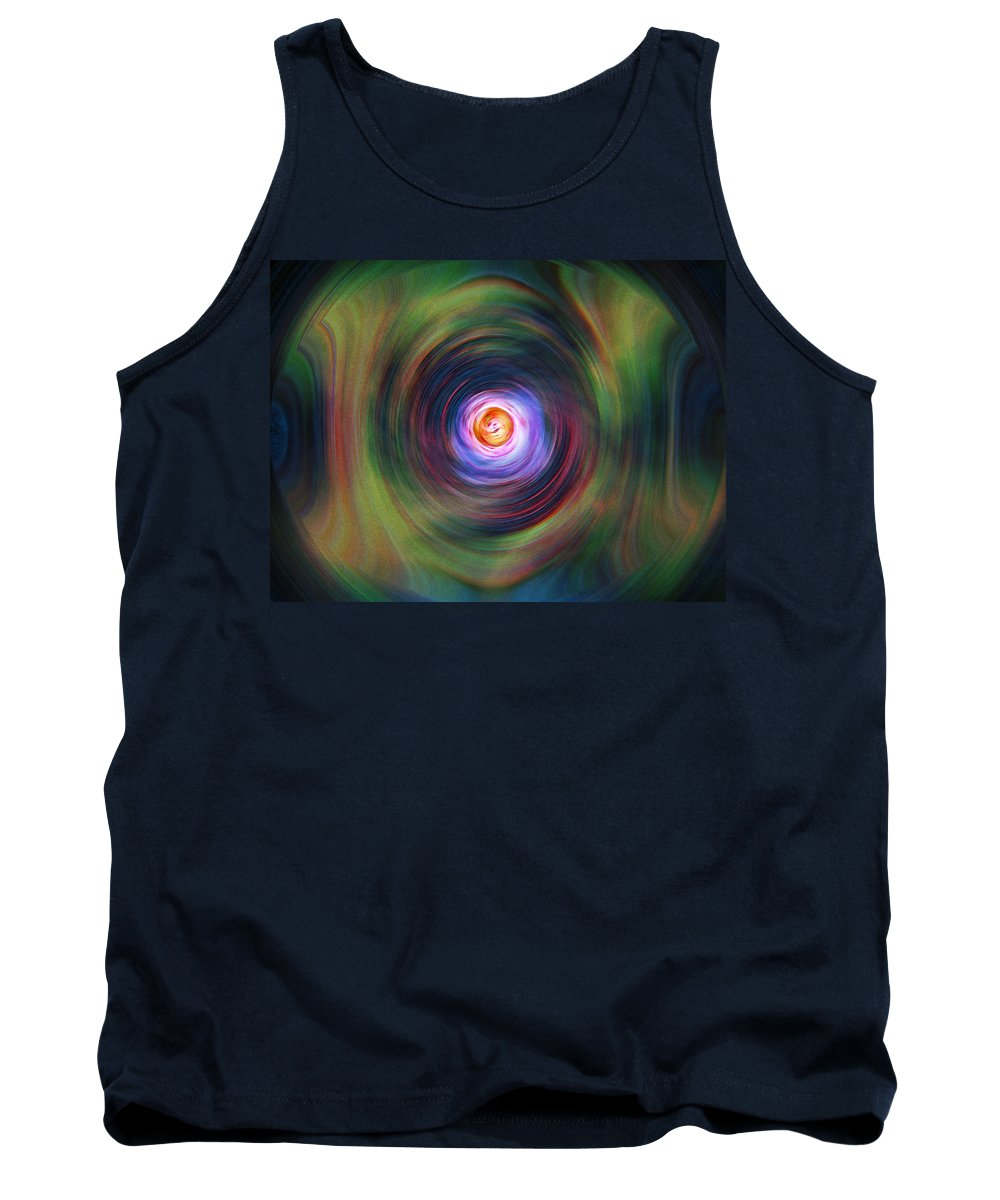 Abstrract Tank Top featuring the digital art Space Time Sequence by Don Quackenbush