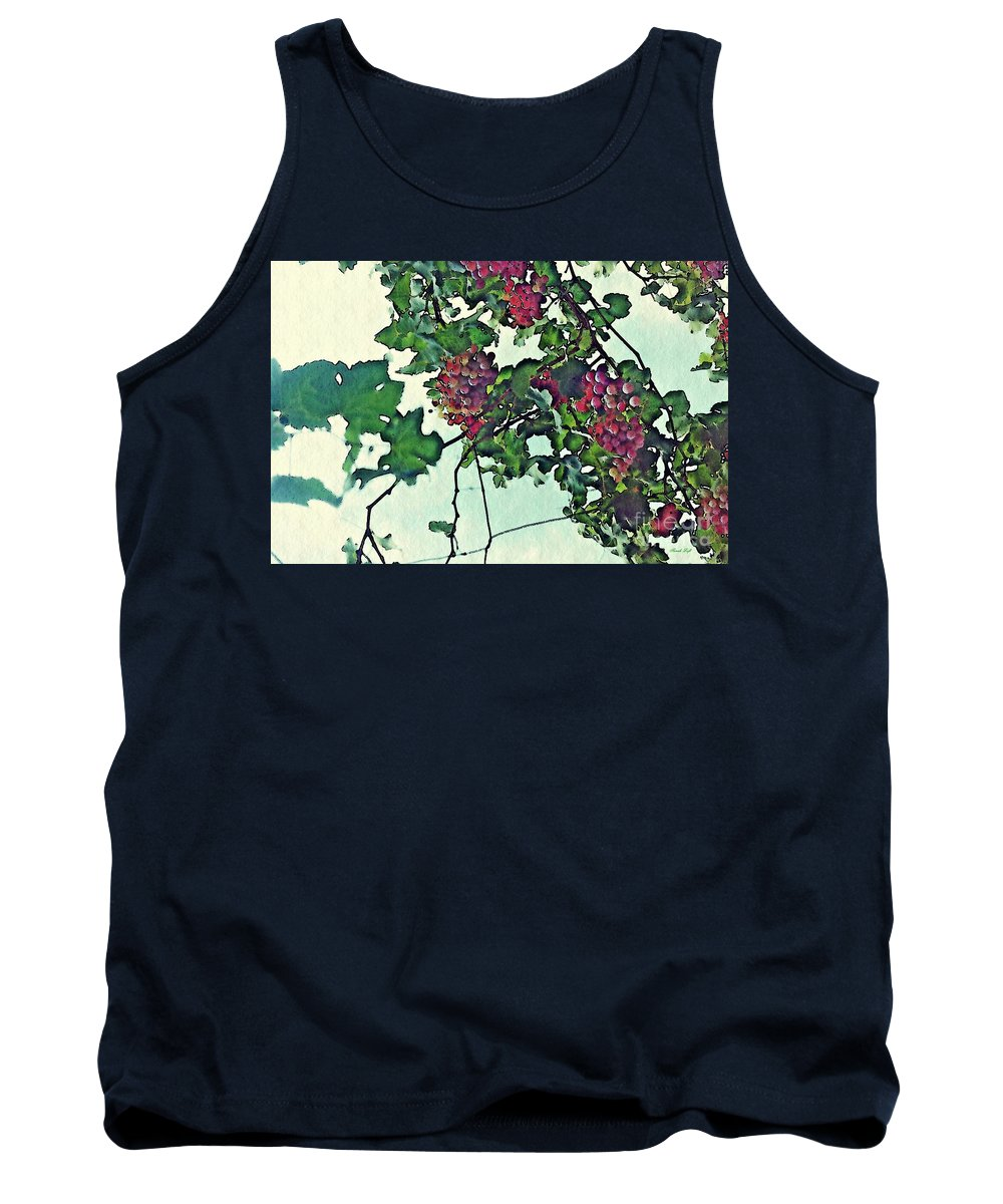 Grapes Tank Top featuring the photograph Spanish Grapes by Sarah Loft