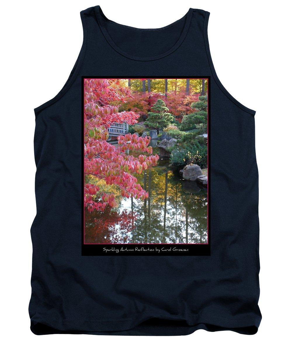 Fall Tank Top featuring the photograph Sparkling Autumn Reflection by Carol Groenen