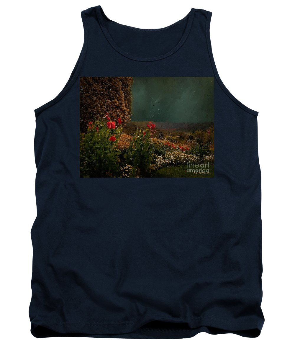 Field Tank Top featuring the painting Splendor Under Southern Skies by RC DeWinter