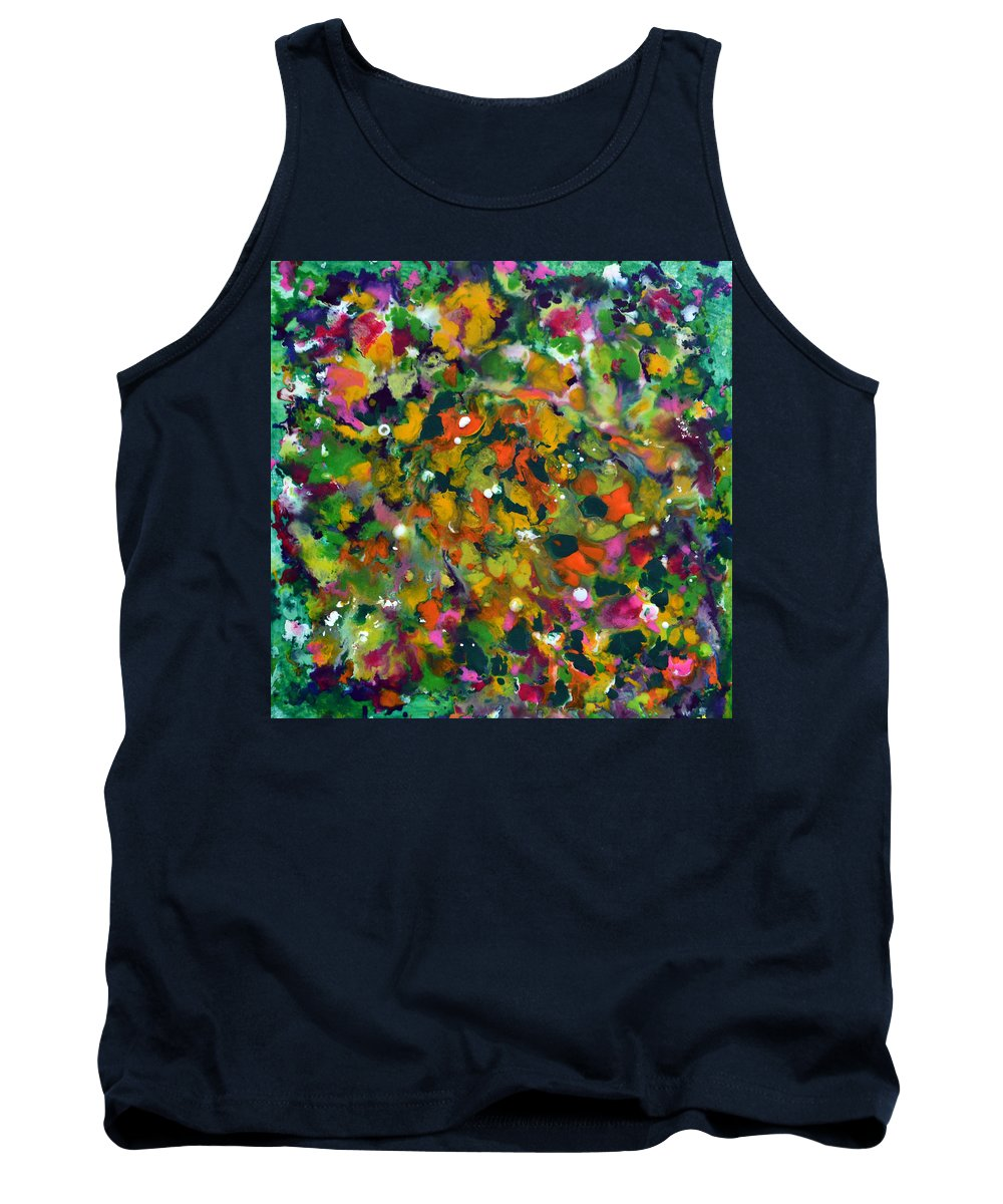 Spring Tank Top featuring the painting Spring Garden by James Pinkerton