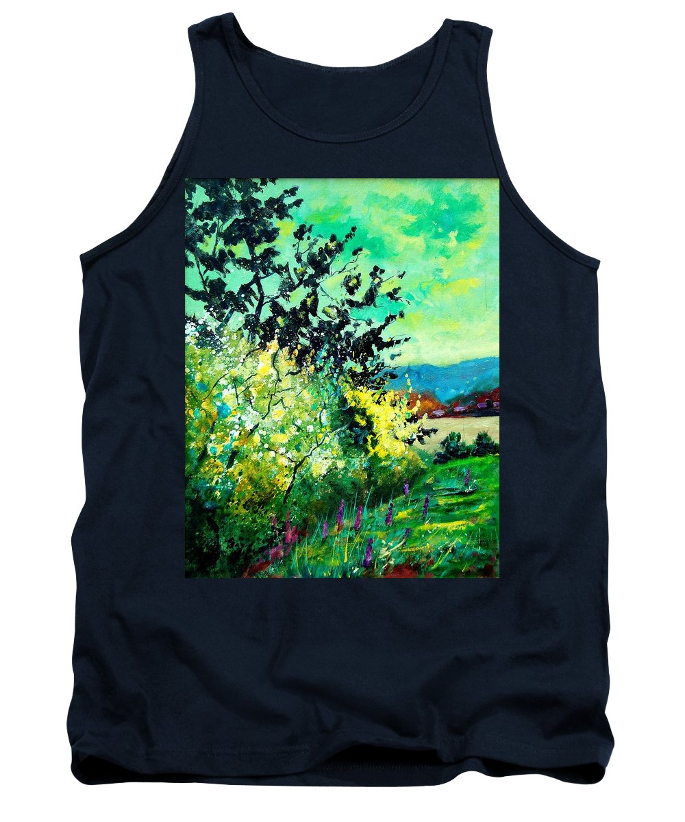 Spring Tank Top featuring the painting spring in Ciergnon by Pol Ledent