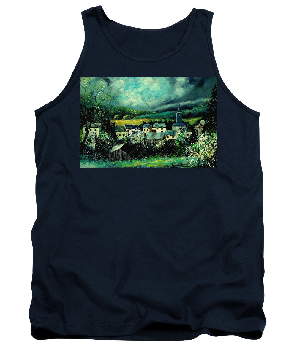 Tree Tank Top featuring the painting Spring In Daverdisse by Pol Ledent