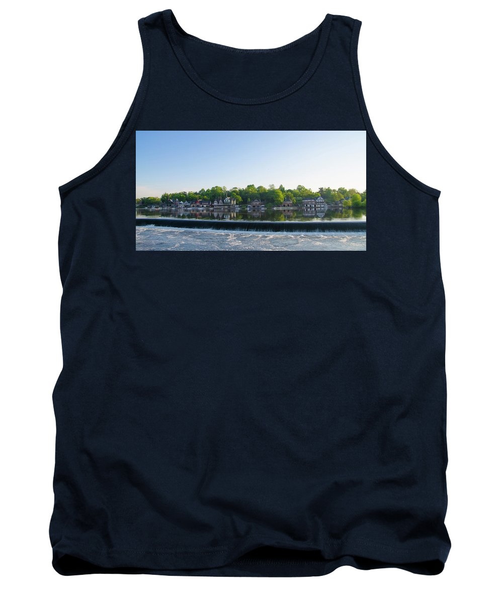 Springtime Tank Top featuring the photograph Springtime At Boathouse Row In Philadelphia by Bill Cannon