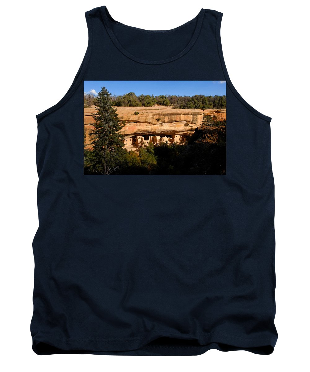 Art Tank Top featuring the painting Spruce Tree House by David Lee Thompson